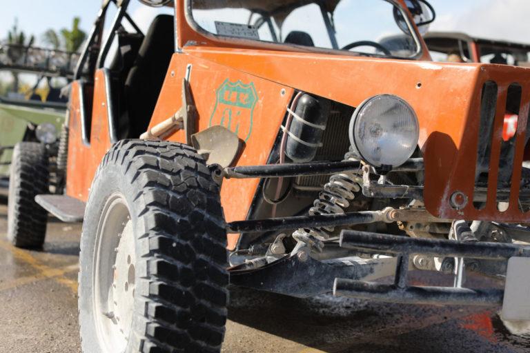 Close up of tread tire 4x4 off road