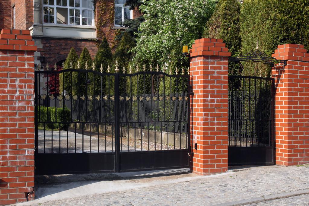 Black front gate