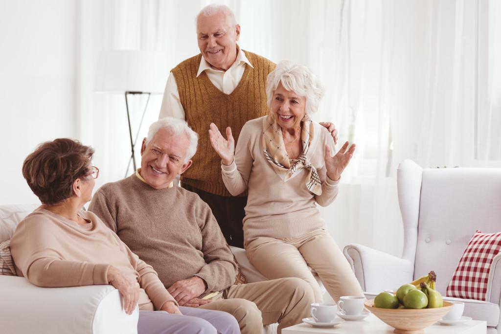 the elderly having fun