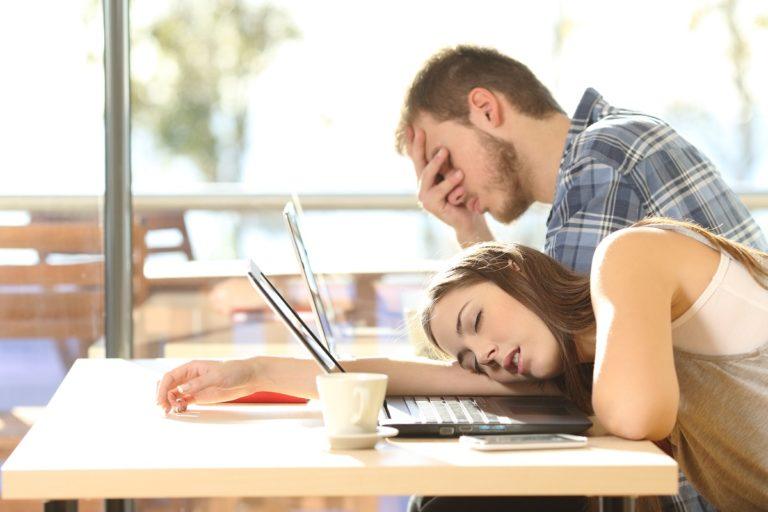 sleeping while working