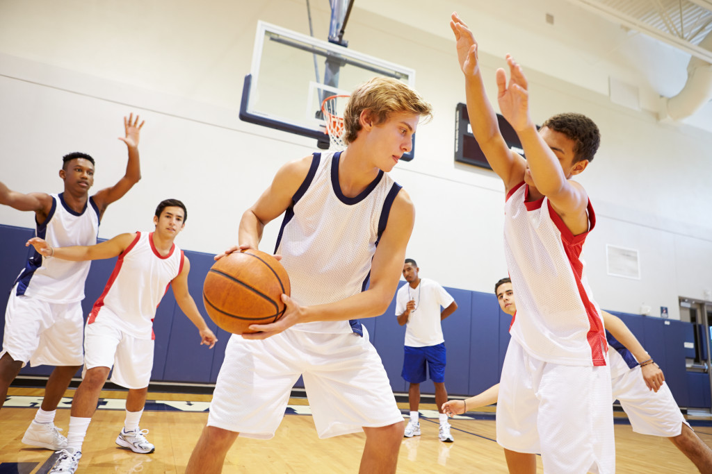 Practice game for a basketball team