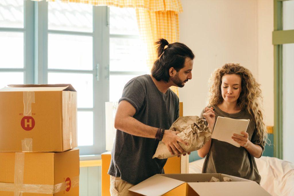 people preparing to move