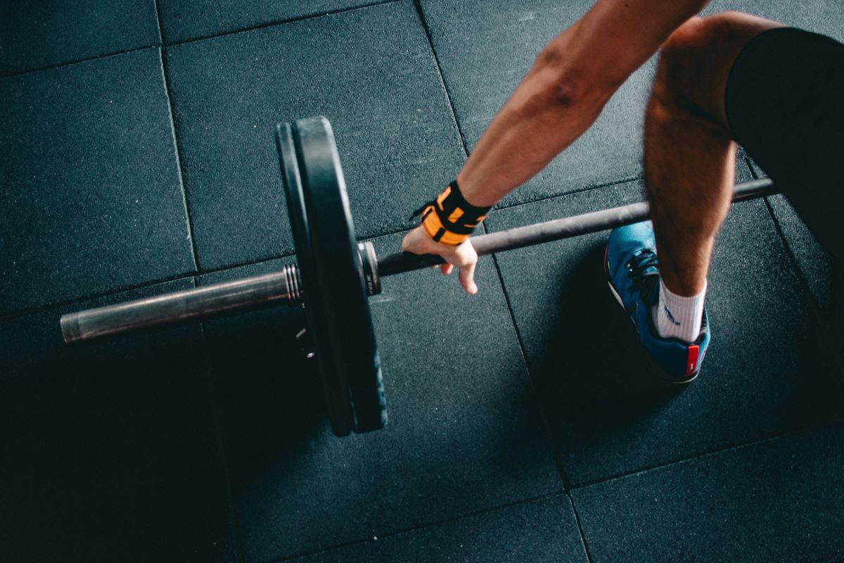 exercising lifting weights