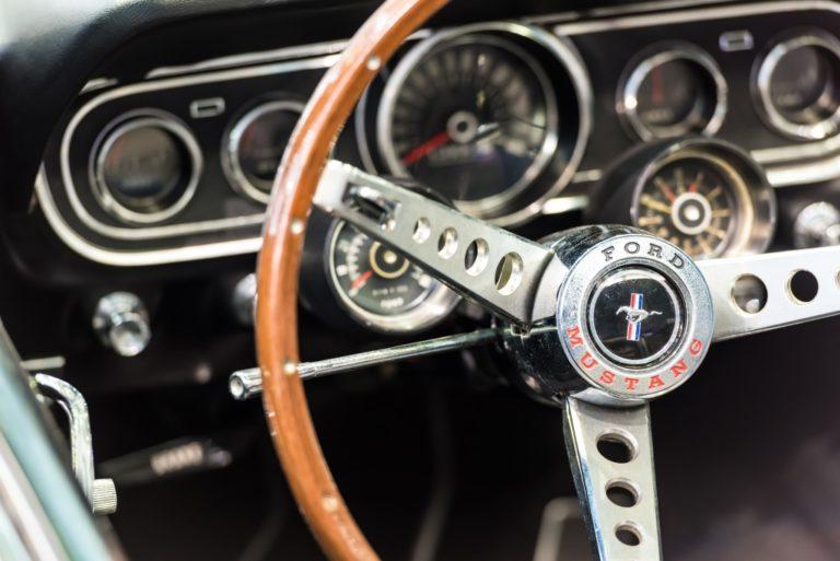 car's dashboard