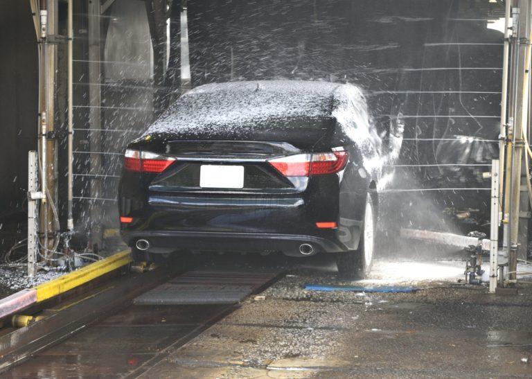 car getting washed