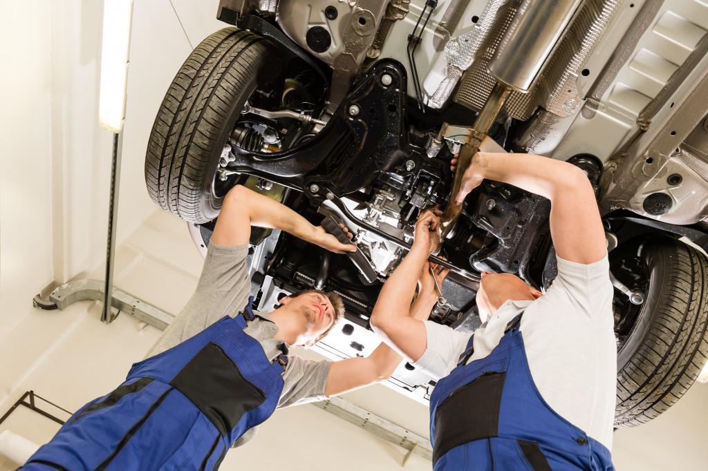 repairmen at an autoshop