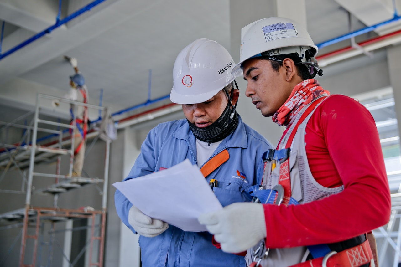 safety officer reviewing a paper