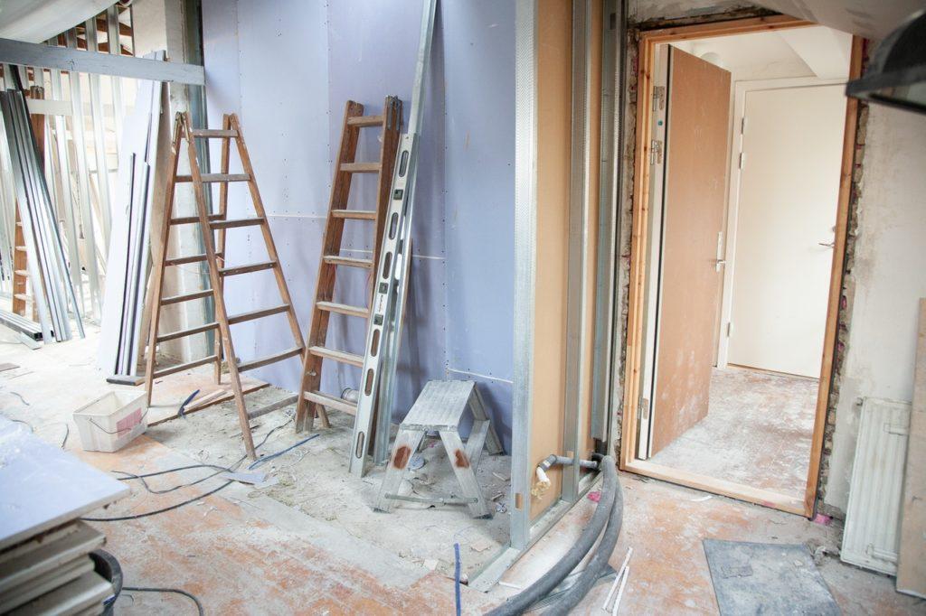 home under renovation