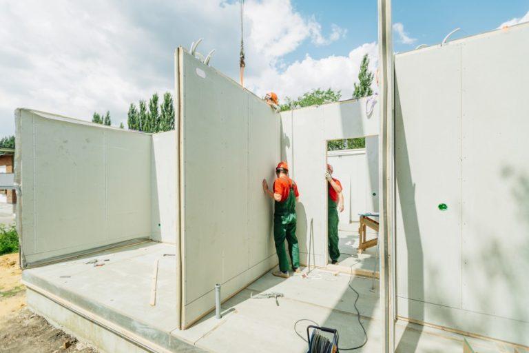 prefab home construction