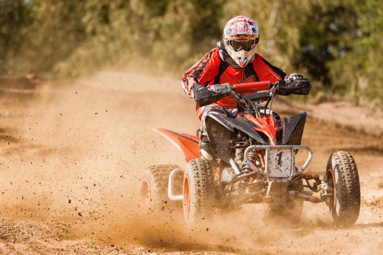 person using an ATV