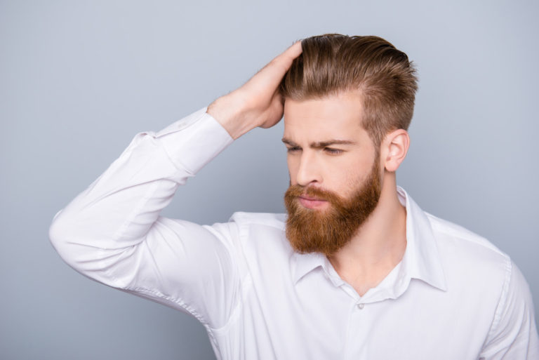 man with beard and nice hair