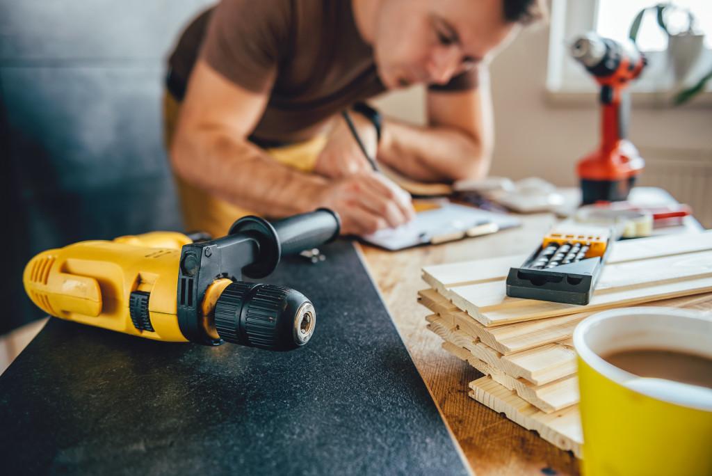 man planning a renovation